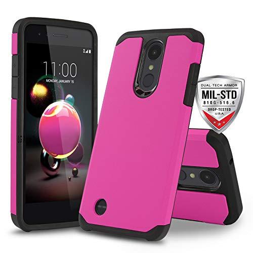 Phone Case for [LG Optimus Zone 4 (Verizon Wireless)], [DuoTEK Series][Pink] Shockproof Hard Cover [Impact Resistant][Defender] for LG Optimus Zone 4 (Verizon Wireless) (Hot Pink)