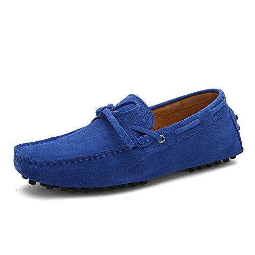 ConduccióN Zapatos MocasíN Pisos Hombres Gamuza Cuero De Casual Hombres Marina Mocasines Zapatos Vaca ApnOPq