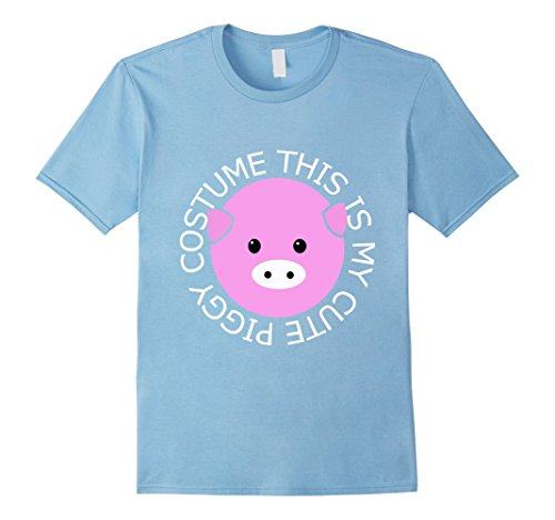 [Men's This is My Cute Piggy Costume Pig T Shirt 2XL Baby Blue] (Pig Infant Costumes)