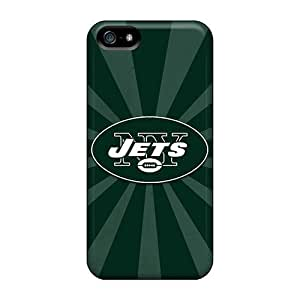 High Quality Hard Phone Case For Iphone 5/5s (gIL18801UGJu) Customized Realistic New York Jets Pattern