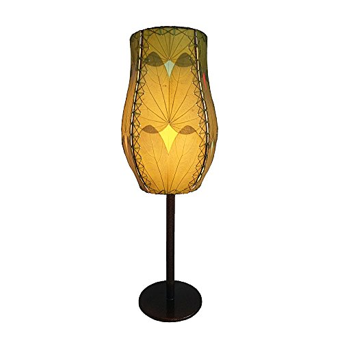 Eangee Home Design Indoor Outdoor Fossilized Alibangbang Leaves Goblet Green Color Table Lamp