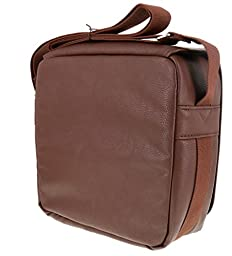 Aroma Oil Tools Leather Style Essential Oils Carrying Case-70 Compartments (Brown Case w/Black Interior)
