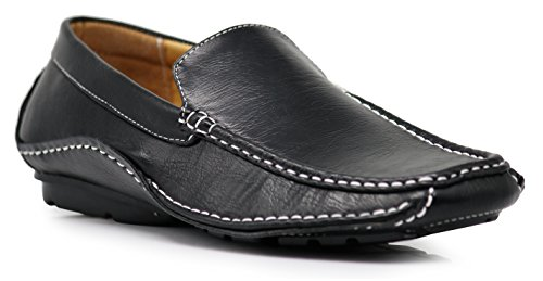 ight Casual Cruise Venetian Classic Driving Moccasin Loafer Driver Shoes (8.5 D(M) US, Black) ()