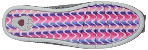 Women's Flat Peek Plush Bobs Ballet Charcoal Skechers Lite vwRp55q