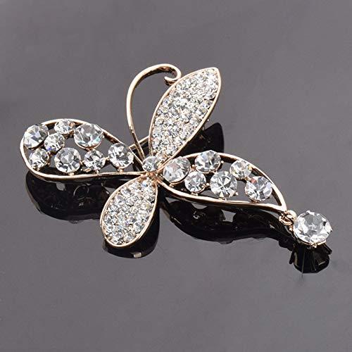 treestar Spilla per donne ragazze Corsage farfalla metallo /& Strass brooche per cappello borsa a mano scarpe fascia abbigliamento accessori 6/x 4,8/cm