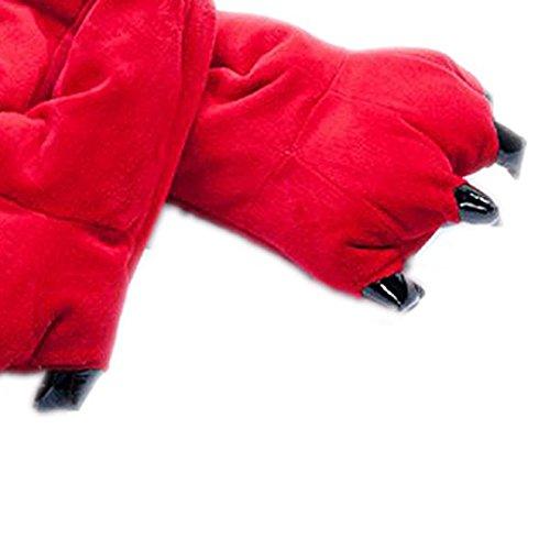 Peluche Halloween Inverno Zampa Sodial Rosso r Pantofole Della Di M Calore PttO1qxn