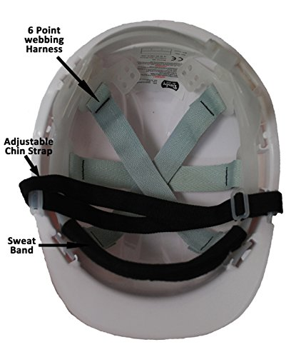 Chief Crane Operator Children, Kids Genuine Hard Hat Safety Helmet With Chin Strap One Size Adjustable Suitable for 2-12 Years White Complies With EN397 Safety Standard by Acce Products by ACCE (Image #2)