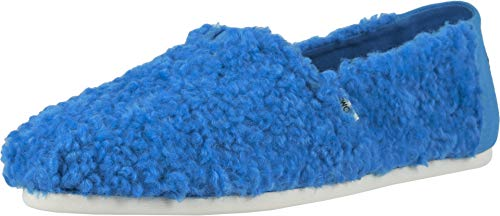 TOMS Blue Classics Sesame Street X Blue Cookie Monster Faux Shearling 10013640 Size 9.5
