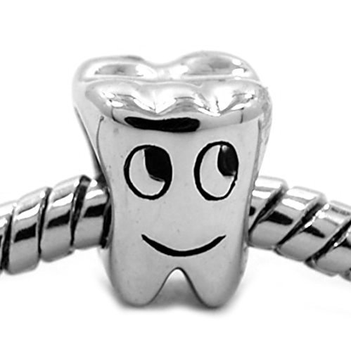 5cb11bf9a Happy Smiling Tooth 925 Sterling Silver Charm Bead Fits Pandora Chamilia  Biagi Troll Charms Europen Style Bracelets - Buy Online in Oman.