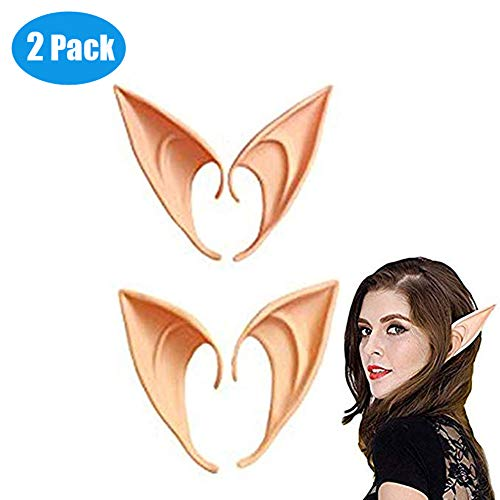 WAQIA Cosplay Fairy Pixie Elf Ears for Halloween Party 2 Different Pairs