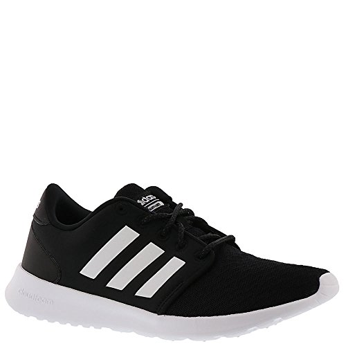 adidas Performance Women's QT Racer Running Shoe, Black/White/Carbon, 7.5 M US