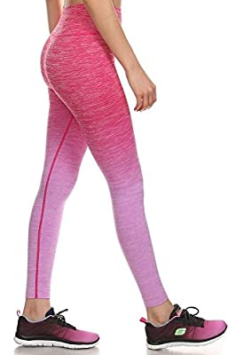 Shosho Womens Active Wear Ombre Leggings