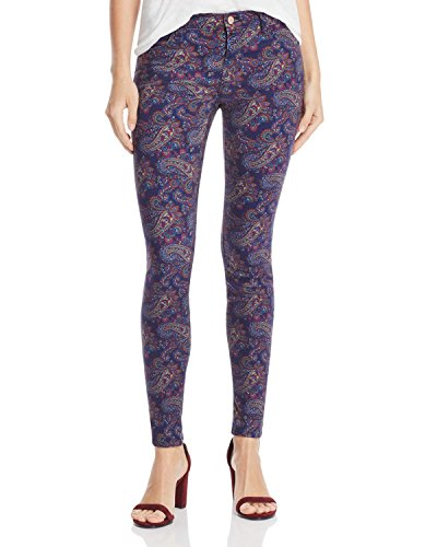 J Brand Womens Mid-Rise Paisley Colored Skinny Jeans Multi 28 by J Brand Jeans