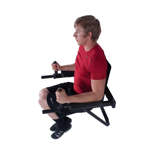 Ultimate Body Press Wall Mounted Dip Station with Vertical Knee Raise