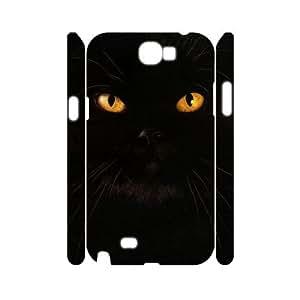 HQYDIY Custom cat 3D Plastic Case, DIY cat Hard 3D Cell Phone Case for samsung galaxy note2 n7100