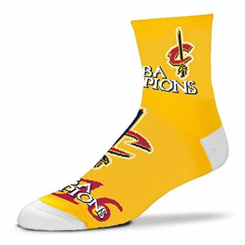 Cleveland Cavaliers 2016 NBA Champions Quarter Socks (Medium)