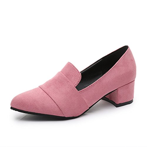 Pink The High Pointed Thick With Heels With New Shallow Tide Shoes Shoes Thirty KHSKX seven Mouth q7dEwE