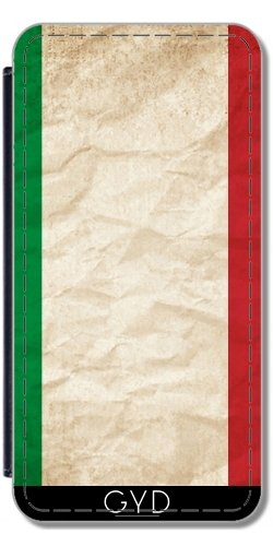 Leder Flip Case Tasche Hülle für Apple Iphone 7 Plus / 8 Plus - Italien Italienisch Europa Flagge by WonderfulDreamPicture