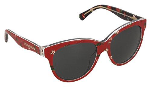 Dolce and Gabbana DG4176 298787 Rose / Red Matt Silk Round Sunglasses Lens - Sunglasses Dolce Rose And Gabbana