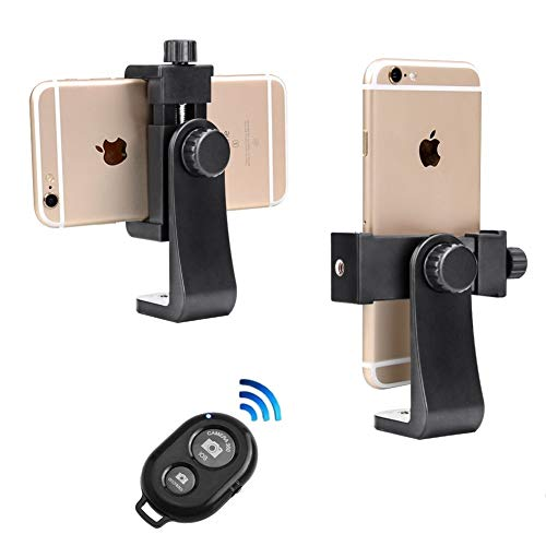 Phone Tripod Mount with Remote 360 Rotation Smartphone Holder Adapter Compatible with iPhone X 8 7 6 6s Plus Samsung Nexus