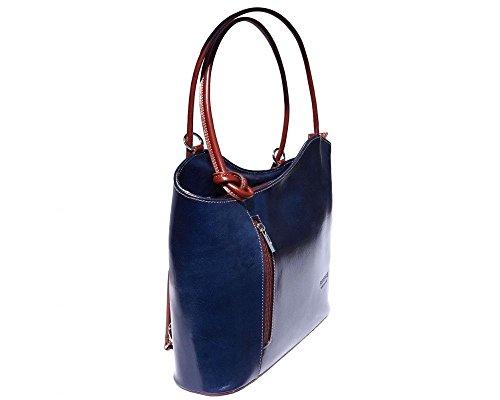 Florence Leather 207 - Bolso mochila  para mujer azul azul oscuro