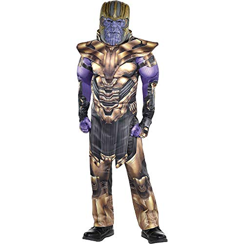 Party City Avengers: Endgame Thanos Muscle Costume for Children, Size Large, Includes a Jumpsuit, Armor, and More