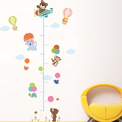 dSNAPoutof Growth Chart Cartoon Animals Kids Height Measure Ruler Nursery Home Wall Sticker - 3#