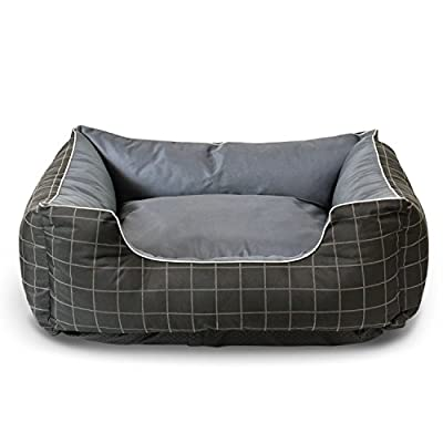 Fluffy Paws Pet Bed Crate Pad Premium Bedding w/ Inner Cushion for Dog / Cat [Happy Camper/ Classic/ Luxury Plush Series]