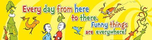 Eureka Dr. Seuss One Fish Two Fish Back to School Classroom Banner, 45'' x 12''