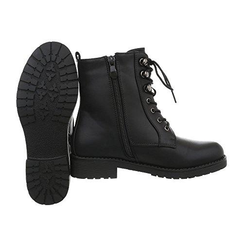 Strass Schuhe 41 Schnürer Damen Combat Halbschaft Boot Schwarz Boots 36 Stiefel Schnürstiefel Stiefeletten Worker Schuhe B8cyrFz8P