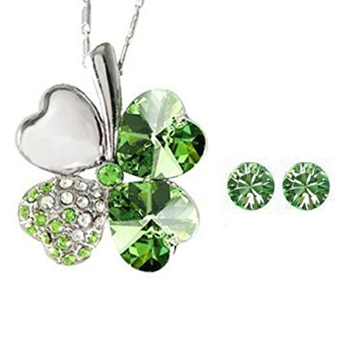 Wrapables Swarovski Elements Necklace Earrings