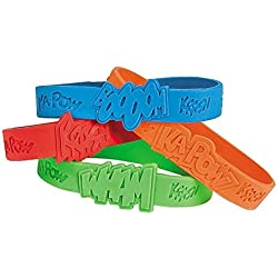 Fun Express 24 Piece Superhero Sayings Bracelets