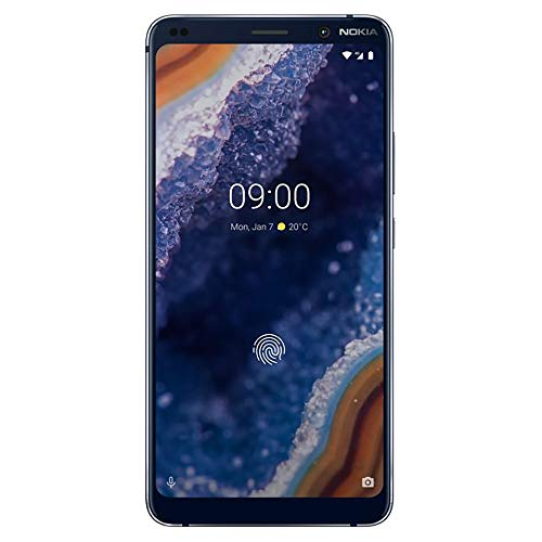 Nokia 9 PureView - Android 9.0 Pie - 128 GB - Single Sim Unlocked Smartphone (at&T/T-Mobile/Metropcs/Cricket/H2O) - 5.99' QHD+ Screen - Qi Wireless Charging - Midnight Blue - U.S. Warranty