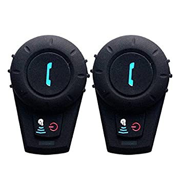 Freedconn FDCVB 2×Auriculares Intercomunicador Bluetooth para Casco de Motocicleta Moto Intercom Headset 500M,