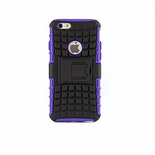"iProtect housse Shockproof super résistant Hard Case avec fonction support stand pour Apple iPhone 6 (4,7"") en violet"