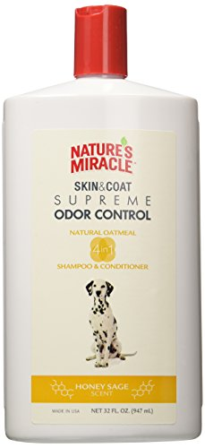 Nature's Miracle Supreme Oatmeal Odor Control Shampoo & conditioner honey sage, 32 (Naturals Deodorizing Shampoo)