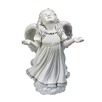 Angel Figurines - In Gods Grace Guardian Angel Statue - Garden Angel Figure