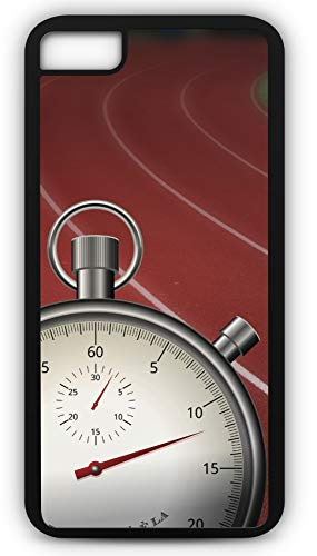 - iPhone 6 Plus 6+ Case Track and Field Lanes Stopwatch Time Race Games Sport Jogging Customizable by TYD Designs in Black Plastic