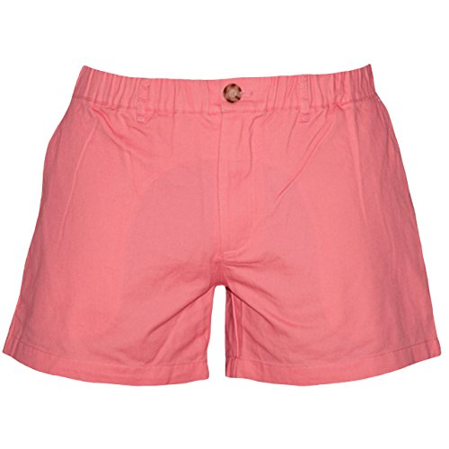 Meripex Apparel Men's 5.5 inch Elastic-Waist Short Shorts (Small, Coral) by Meripex Apparel