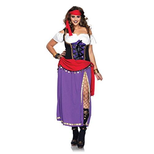 Mememall Fashion Womens Traveling Gypsy Plus Size Costume Renaissance Pirate Halloween Sz 1X - 4X (Plus Size Squirrel Costume)