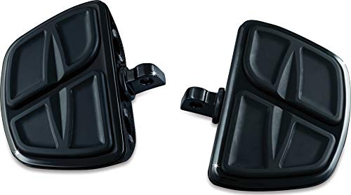 Kuryakyn 7612 Motorcycle Accessory: Kinetic Mini Board Floorboards with Male Mount Adapters, Gloss Black, 1 -