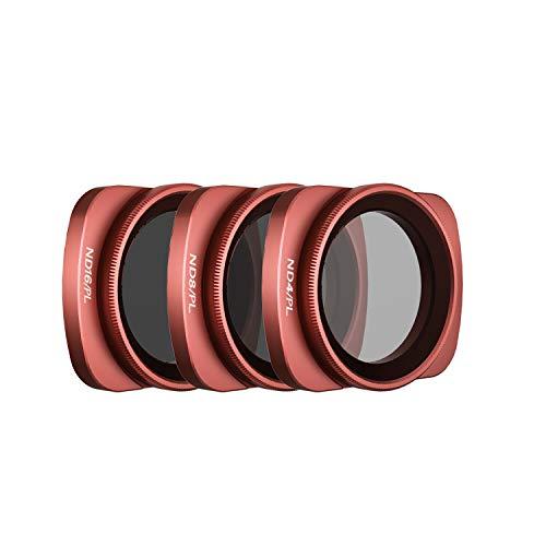Skyreat Camera Lens ND Filters Set 3Pack-(ND4/PL, ND8/PL, ND16/PL) Compatible with DJI Osmo Pocket Gimbal Camera