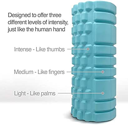 Gimme 10 Foam Roller for Deep Tissue Massager for Muscle and Myofascial Trigger Point Release Turquoise