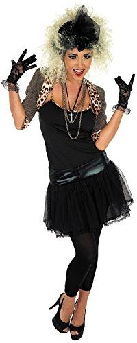 Ladies 1980s 80s Celebrity Pop Star Musician Fancy Dress Costume Outfit UK 8-30 Plus Size (UK 20-22) -