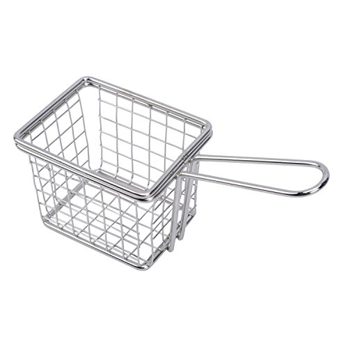 Mini Wire Deep Fry Basket French Fries Wedges Fish Baskets Wire Mesh Frying Basket (1pc)