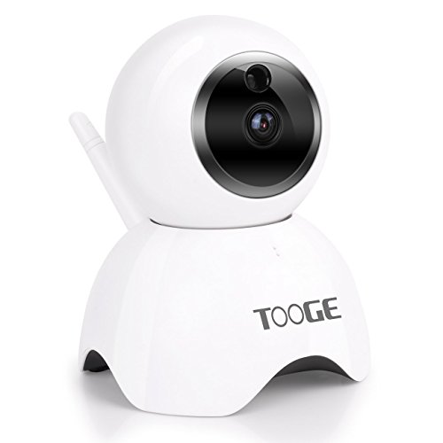Wifi Security Camera Indoor by TOOGE, 720P IP Camera Wireless PTZ with Night Vision Two-way Audio for Home, Pet, Elder, Nanny, Baby Monitor