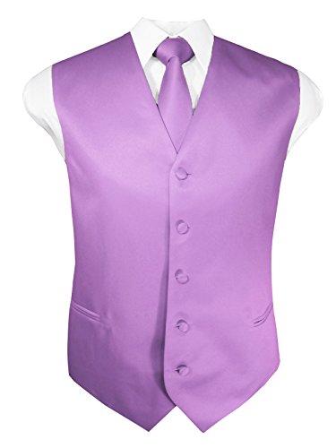 - Guytalk Mens 3 Piece Tuxedo Vest for Formal Party, Wedding, Prom, Bartender XXL Lavender