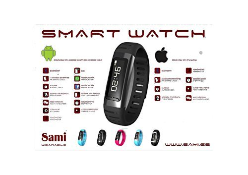 SMART WATCH - Reloj Inteligente con Bluetooth. Compatible con Android Smartphone/Android Tablet y iPhone/iPad Con Podómetro y Cronómetro.