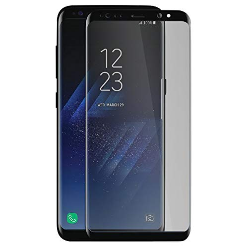 専ら樹木略奪Galaxy S8 フィルム 強化ガラスフィルム のぞき見防止 全面保護 9H 液晶強化ガラスフィルム のカラーフレーム Galaxy S8 SC-02J SCV36 ギャラクシー s8 (A) ブラック