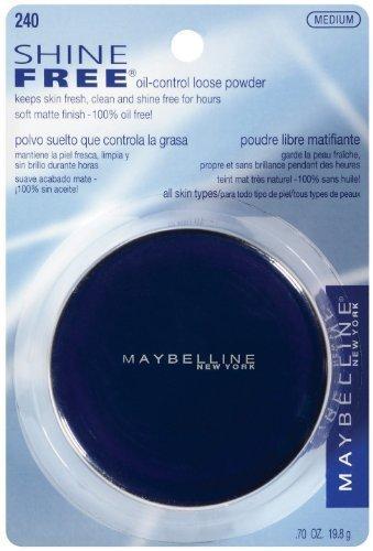 (Maybelline New York Shine Free Oil Control Loose Powder, Medium [240] 0.70 oz)